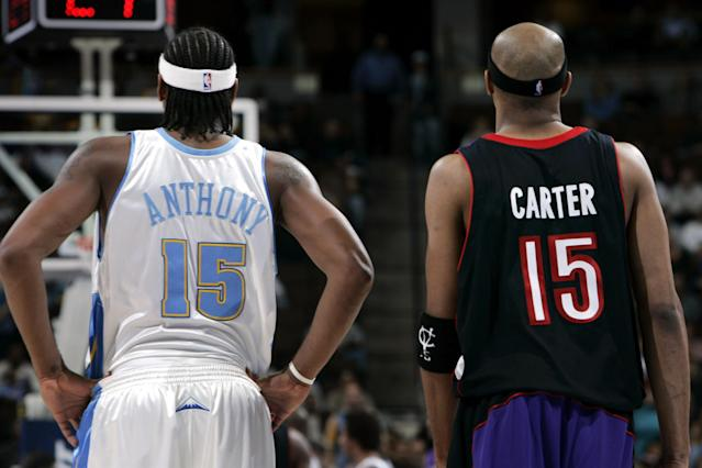 Can Carmelo Anthony follow Vince Carter's path to veteran success? (Getty Images)