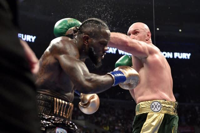 Fury and Wilder meet again in February (Lionel Hahn/PA)