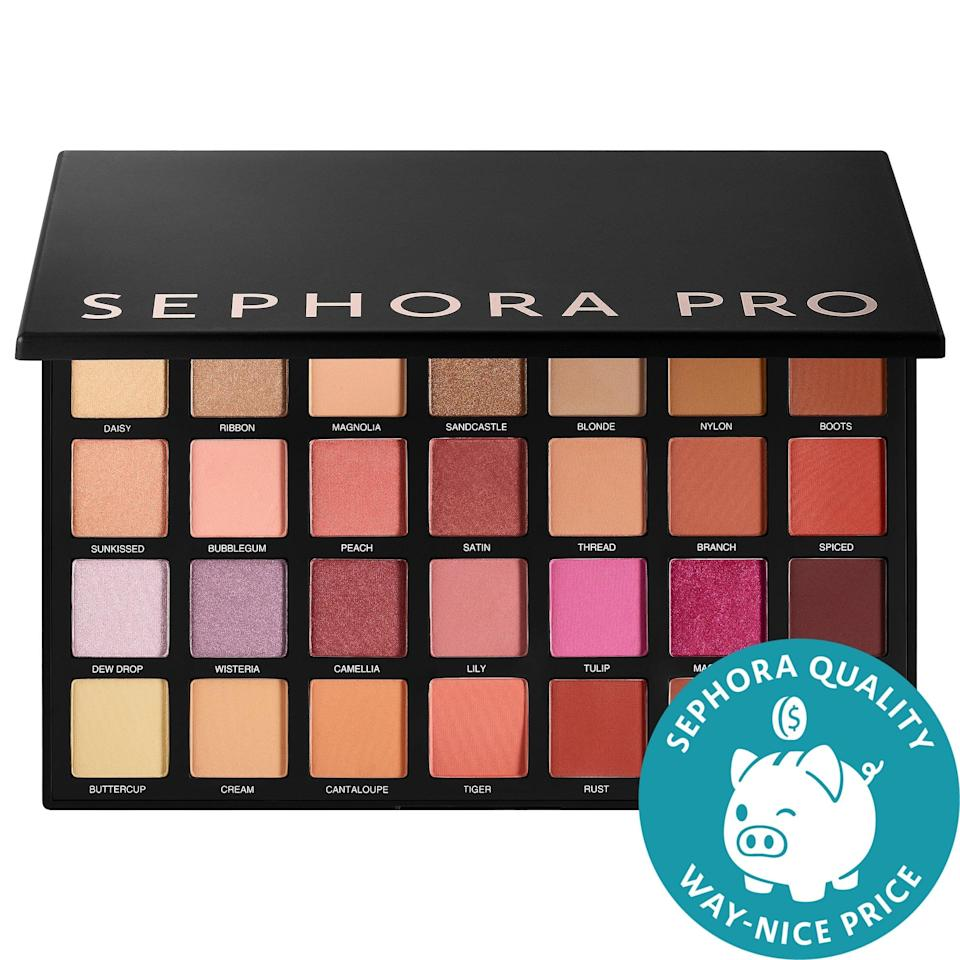 "<p>Get 28 shadows to play with in this <a href=""https://www.popsugar.com/buy/Sephora-Collection-New-Nudes-Palette-586772?p_name=Sephora%20Collection%20New%20Nudes%20Palette&retailer=sephora.com&pid=586772&price=34&evar1=bella%3Aus&evar9=47589683&evar98=https%3A%2F%2Fwww.popsugar.com%2Fbeauty%2Fphoto-gallery%2F47589683%2Fimage%2F47594199%2FSephora-Collection-Sephora-New-Nudes-Palette&prop13=mobile&pdata=1"" class=""link rapid-noclick-resp"" rel=""nofollow noopener"" target=""_blank"" data-ylk=""slk:Sephora Collection New Nudes Palette"">Sephora Collection New Nudes Palette </a> ($34, originally $68) - it's half off now.</p>"