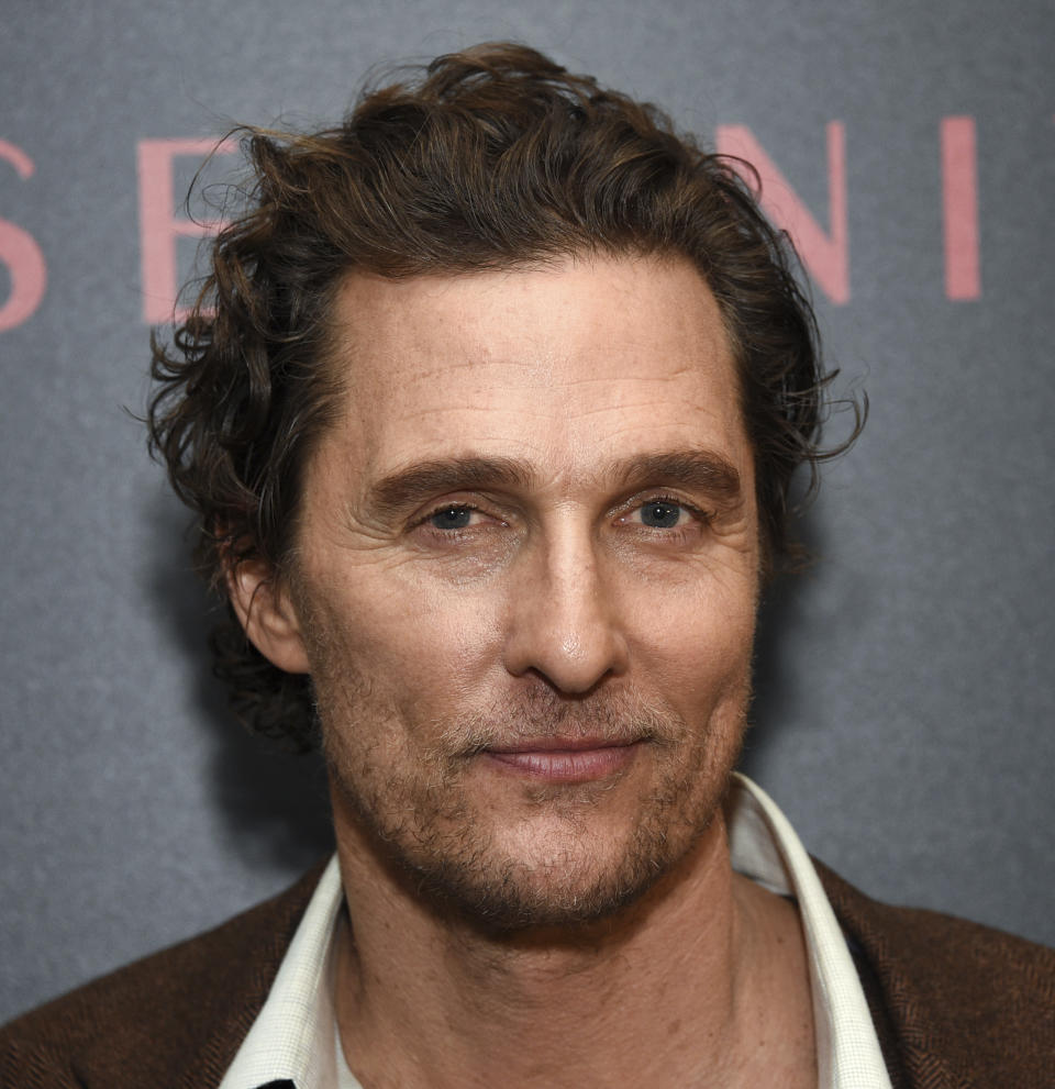 "Actor Matthew McConaughey attends a special screening of ""Serenity"" at the Museum of Modern Art on Wednesday, Jan. 23, 2019, in New York. (Photo by Evan Agostini/Invision/AP)"