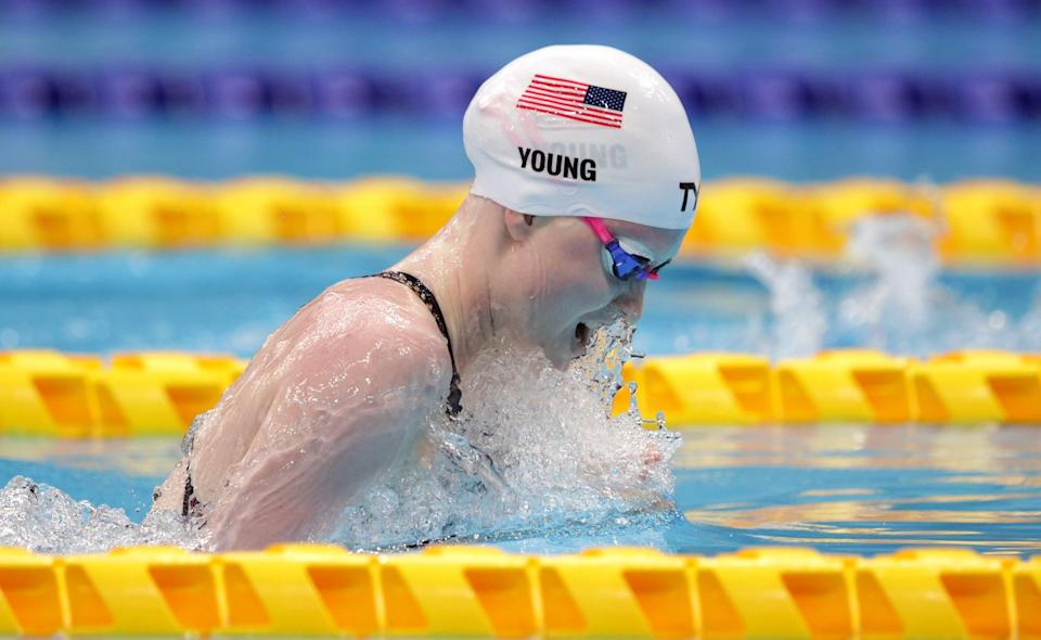 <p>When Young was younger, she swam while playing softball, soccer, and golf. As Young grew up, she put a majority of her focus toward competing in golf and swimming. However, after the 2012 London Games, she's exclusively continued with competitive swimming.</p>
