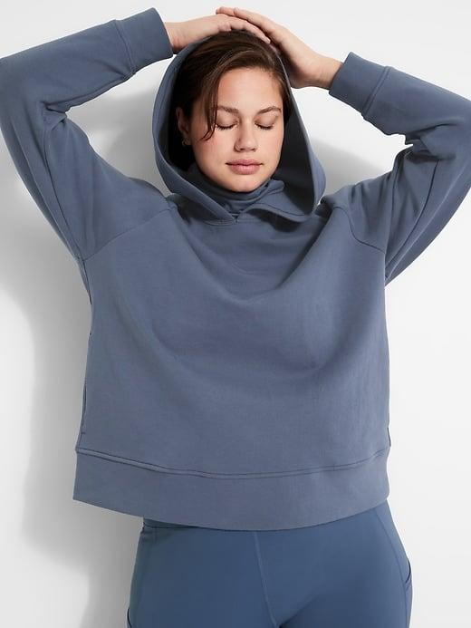 <p>This <span>Banana Republic Scuba-Knit Hoodie</span> ($60) works when the weather's still cool (and there's a built-in turtleneck collar that can double as a second protective mask layer in a pinch, too).</p>
