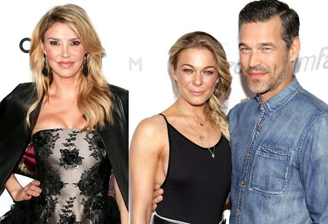 Brandi Glanville, left, is feuding again with LeAnn Rimes and Eddie Cibrian. (Photo: Getty Images)