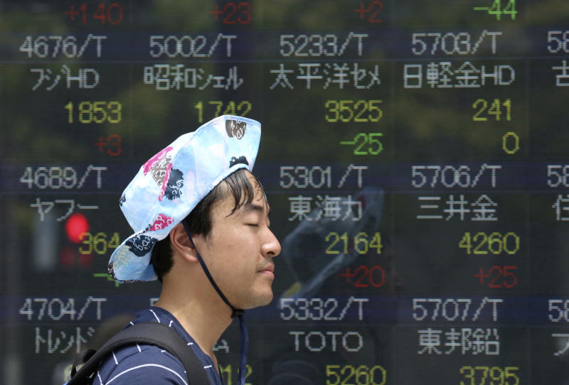 World markets turn lower ahead of comments by Fed chair