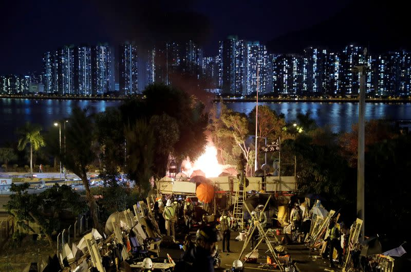Pictures of the Year: Hong Kong protest tide turns into sea of flames