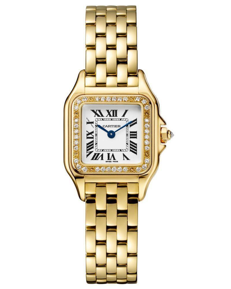 """<p><strong>Cartier Panthère Watch</strong></p><p>cartier.com</p><p><strong>$23500.00</strong></p><p><a href=""""https://www.cartier.com/en-us/collections/watches/all-watches/panth%C3%A8re-de-cartier-watches/wjpn0015-panth%C3%A8re-de-cartier-watch.html"""" rel=""""nofollow noopener"""" target=""""_blank"""" data-ylk=""""slk:Shop Now"""" class=""""link rapid-noclick-resp"""">Shop Now</a></p><p>Of the many motifs in Cartier's vault, none stands out more than the leopard. The fabled French jewelry house—founded by Louis-François Cartier in 1847 and later coming into prominence under the direction of his grandsons, Louis, Jacques, and Pierre—has created iconic designs like the Santos de Cartier and Tanks watches, the Taylor–Burton Diamond, a number of England's Crown Jewels, the Love bracelets, and unmistakable red packaging. But the leopard, or <em>panthère</em> in the brand's original language, is probably its best mascot. <br><br>The spotted feline takes literal shape in Cartier's jewelry collection and the majority of its advertisements. But with the Panthère de Cartier watch collection, which debuted in 1983, the approach is far more subtle. Rather than depict the leopard precisely, it takes the fierce qualities of the animal and imbues them into the design: the open-work chain that reveals a slither of skin, and the face that at first glance appears unassuming, but pounces in full view. </p>"""
