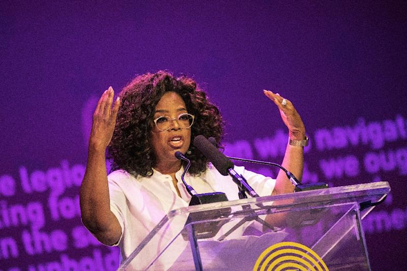 US TV personality Oprah Winfrey, pictured in November 2018, did a show with Faria in 2013 after visiting him the previous year (AFP Photo/GIANLUIGI GUERCIA)