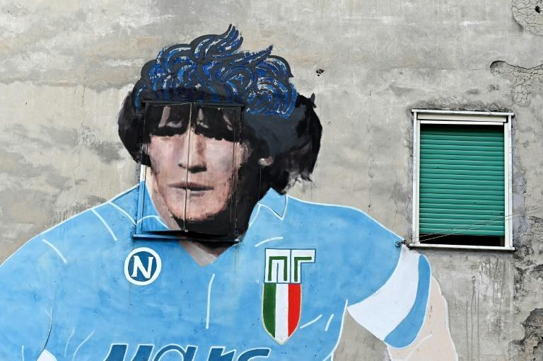 Diego Maradona's image still adorns buildings in Naples