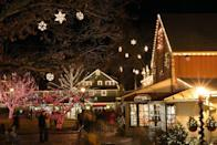 """<p>Lahaska is home to <a href=""""https://peddlersvillage.com/news/peddlers-village-will-glow-for-the-holidays/"""" rel=""""nofollow noopener"""" target=""""_blank"""" data-ylk=""""slk:Peddler's Village"""" class=""""link rapid-noclick-resp"""">Peddler's Village</a>, an adorable little place that turns into a Winter Wonderland every year for the holidays. The town hosts a <a href=""""https://peddlersvillage.com/event/gingerbread-house-display/"""" rel=""""nofollow noopener"""" target=""""_blank"""" data-ylk=""""slk:Gingerbread Decorating Competition"""" class=""""link rapid-noclick-resp"""">Gingerbread Decorating Competition</a>, displaying more than 70 creative entries from mid-November until early January. On the weekends, folks can take part in an outdoor walking mystery called """"<a href=""""https://peddlersvillage.com/product/family-mystery-elf/"""" rel=""""nofollow noopener"""" target=""""_blank"""" data-ylk=""""slk:Elf on the Stealth"""" class=""""link rapid-noclick-resp"""">Elf on the Stealth</a>"""" where families, led by Mrs. Claus, search the village for Shelfie the Elf. </p>"""