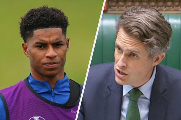 Gavin Williamson got Marcus Rashford muddled up with another sports player (Photo: Getty)
