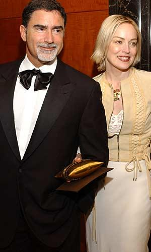 Sharon Stone with former husband Phil Bronstein