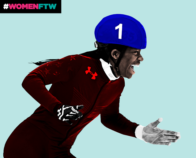 Maame Biney is the first black woman to compete as an U.S. Olympic speedskater. (Photo: Getty Images/Quinn Lemmers for Yahoo Lifestyle)