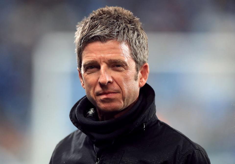 Noel Gallagher before the Premier League match at the Etihad Stadium, Manchester