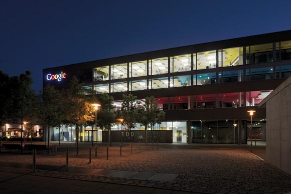Google's Zurich office seen from the outside