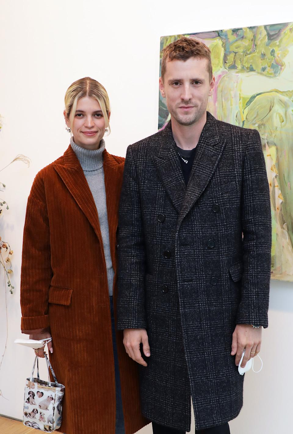 The model is expecting her first child with husband George Barnett. (Getty Images)