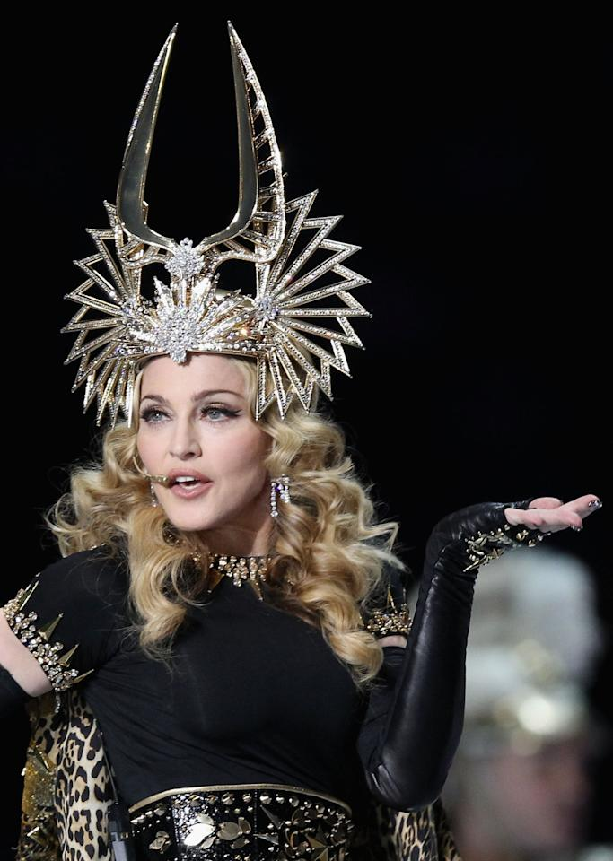 Only Madonna could pull off a headpiece like this without anyone batting an eye. Her Roman-themed Givenchy costumes were as perfect as her blond curls.