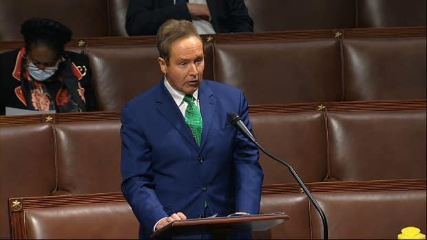 New York Rep. Brian Higgins, shown in Washington, D.C., in April 2020, co-chairs the Northern Border Caucus in the U.S. House of Representatives. He criticized the lack of information released by the Canadian government, along with its decision to extend border closures.