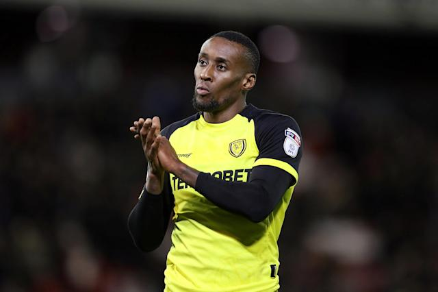 "Soccer Football - Championship - Barnsley vs Burton Albion - Oakwell, Barnsley, Britain - February 20, 2018 Burton Albion's Lloyd Dyer applauds the fans at the end of the game Action Images/John Clifton EDITORIAL USE ONLY. No use with unauthorized audio, video, data, fixture lists, club/league logos or ""live"" services. Online in-match use limited to 75 images, no video emulation. No use in betting, games or single club/league/player publications. Please contact your account representative for further details."