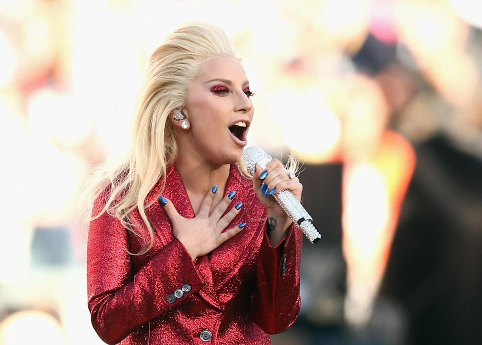 """<h1 class=""""title"""">Lady Gaga Sings The National Anthem At Super Bowl 50</h1><cite class=""""credit"""">Matt Cowan/Getty Images</cite>"""