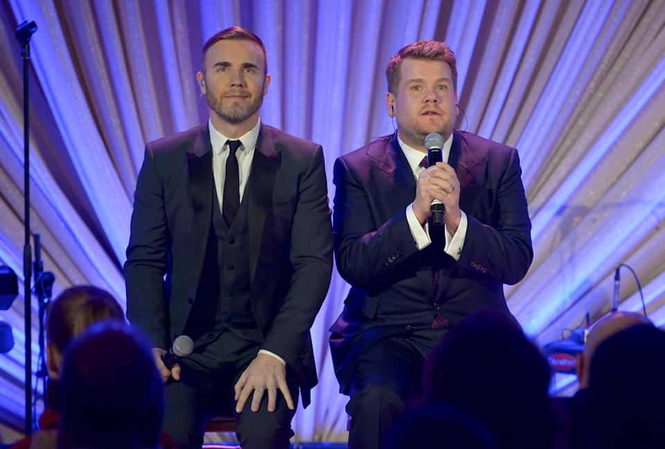Gary Barlow and James Corden have teamed up for a new track. (Photo by Charley Gallay/Getty Images for TWC)