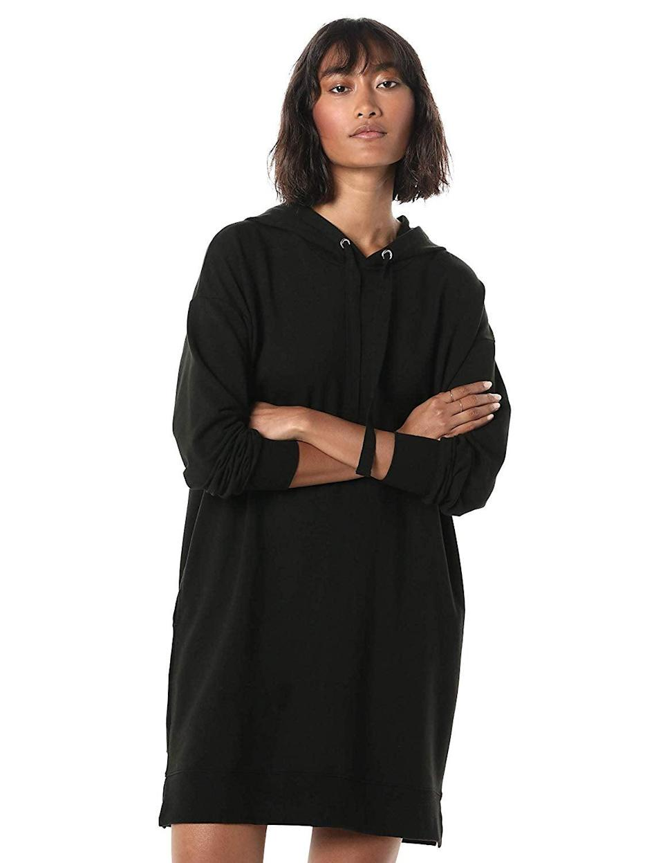"<br><br><strong>The Drop</strong> Long Sleeve Hooded Mini Sweatshirt Dress, $, available at <a href=""https://amzn.to/2DY3nWc"" rel=""nofollow noopener"" target=""_blank"" data-ylk=""slk:Amazon"" class=""link rapid-noclick-resp"">Amazon</a>"