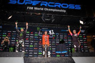 <em>Cooper Webb earned his second championship in the past three years with Ken Roczen second and Eli Tomac third in the points. Feld Entertainment, Inc.</em>