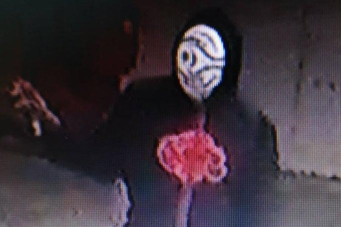<p>The cosplay outfit appears to be part of the evil Akatsuki clan from popular comic book series Naruto</p> (Met Police)