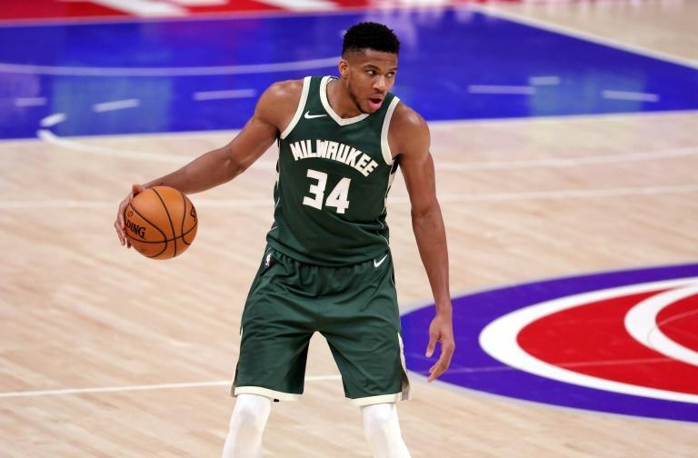 MVP: Milwaukee's Giannis Antetokounmpo on the way to a triple-double in the Bucks' 110-101 NBA victory over the Detroit Pistons