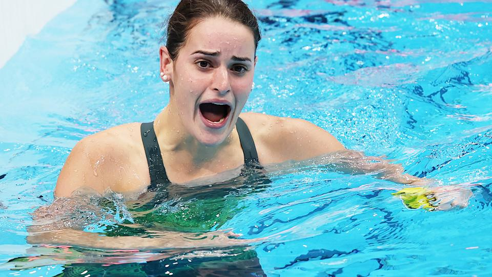 Kaylee McKeown, pictured here celebrating after winning gold in the 100m backstroke.
