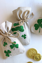 """<p>It would be such a shame to find the end of the rainbow and then not have anywhere to store the gold you find. These cute shamrock coin bags are up to the task. </p><p><em>Get the tutorial at <a href=""""https://www.ribbonsandglue.com/lucky-shamrock-coin-bags-diy.html#.WIeiy7YrJgc"""" rel=""""nofollow noopener"""" target=""""_blank"""" data-ylk=""""slk:Ribbons and Glue"""" class=""""link rapid-noclick-resp"""">Ribbons and Glue</a>. </em></p>"""