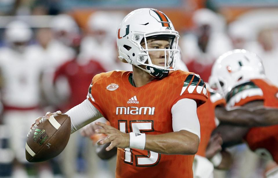 Miami (Fla.) QB Brad Kaaya could be a nice fit with the Kansas City Chiefs (AP).
