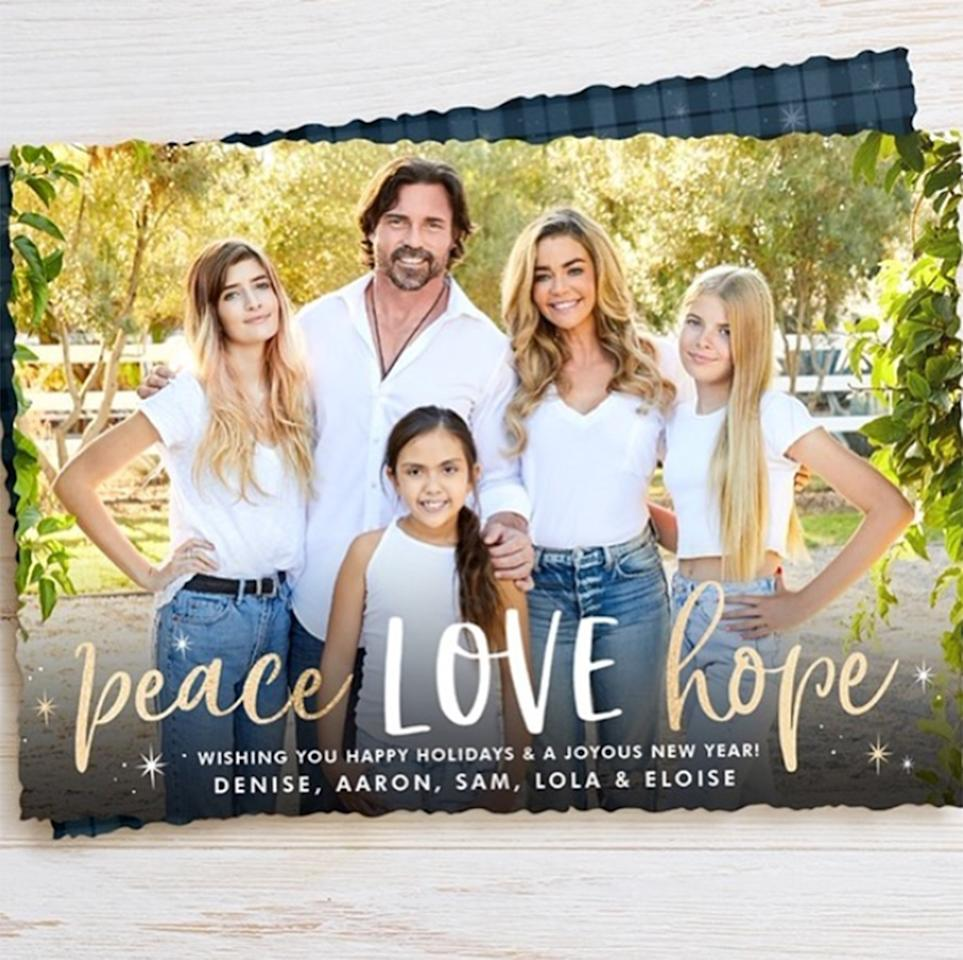 """""""Very blessed to call this family mine,"""" Denise captions the family's 2019 holiday card."""