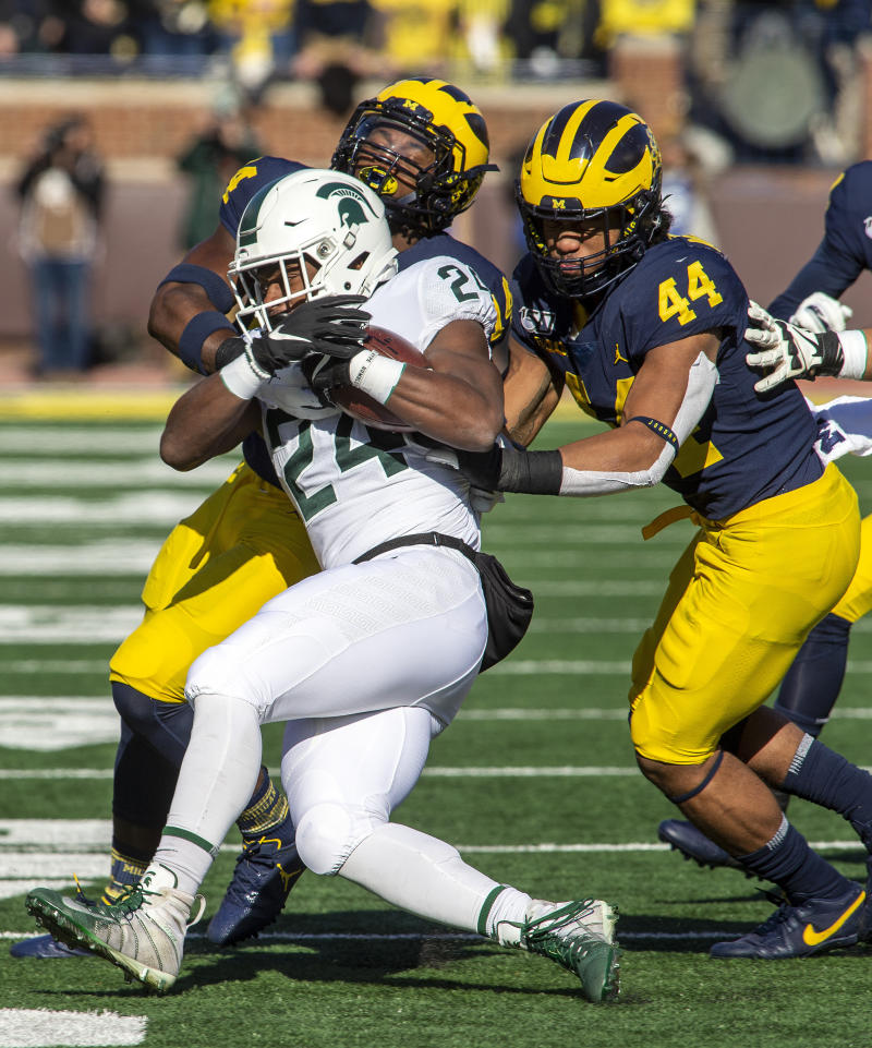 McGrone manning middle of Michigan's stout defense