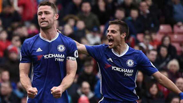 <p>Back three: <strong>David Luiz, Cesar Azpilicueta and Gary Cahill</strong></p> <br><p>Unlike title rivals Spurs, Chelsea have been consistently using the 3-4-2-1 formation, with Italian boss Antonio Conte introducing it shortly after the season started. The change has allowed the Blues to emerge as strong favourites to claim the title, with David Luiz's return last summer a key element as the central figure in the back line.</p> <br><p>Average goals conceded per game: <strong>0.69</strong></p>