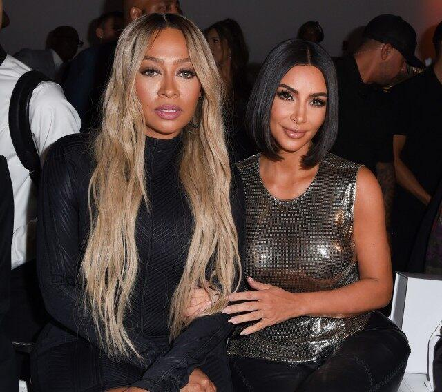 Kim Kardashian and Lala Anthony