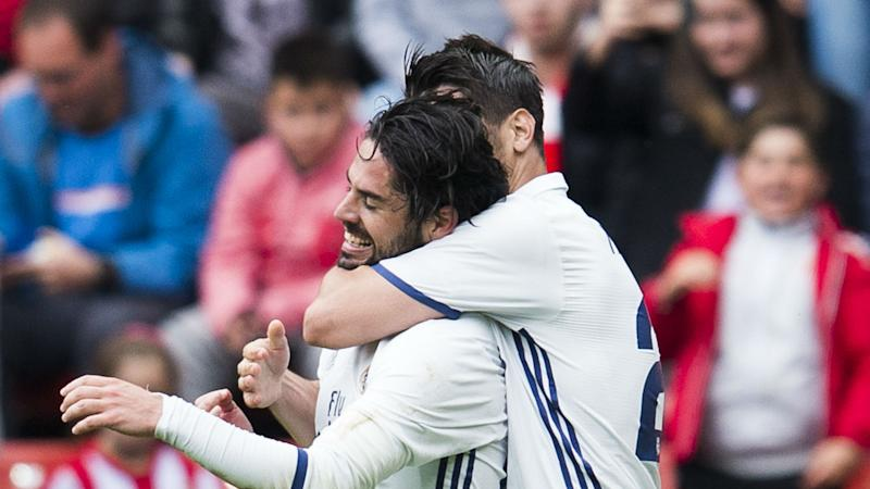 Zidane tells Isco his future is with Madrid after heroics in Gijon