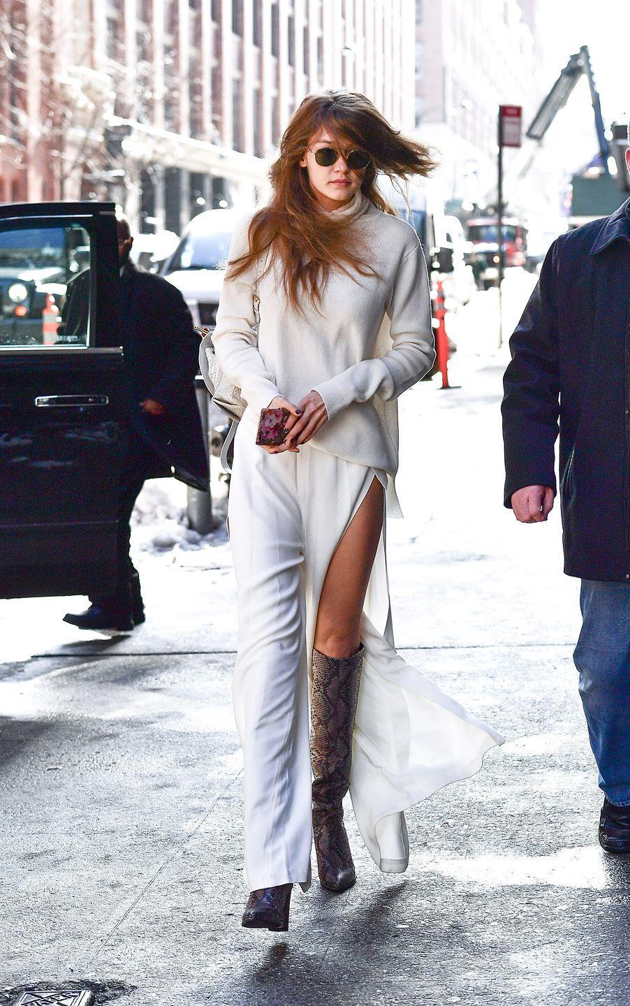 <p>Think a pair of pants can't be shorts too? Gigi is here to prove you oh so wrong. She wore barely-there trousers while out and about in NYC, thoroughly confusing/enthralling the world. </p>