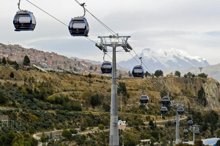 La Paz's cable car system will help commuters escape traffic while enjoying spectacular views of nearby Mount Illimani