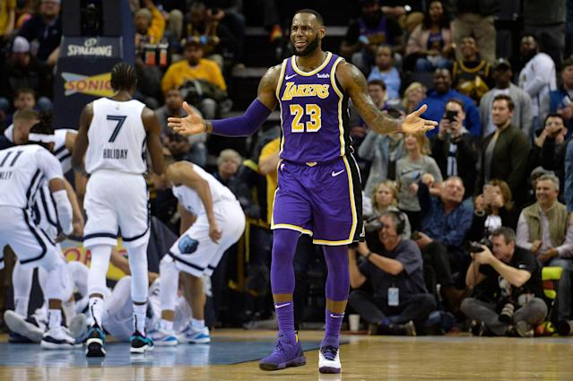 LeBron James has called out his Lakers teammates. (AP Photo/Brandon Dill)
