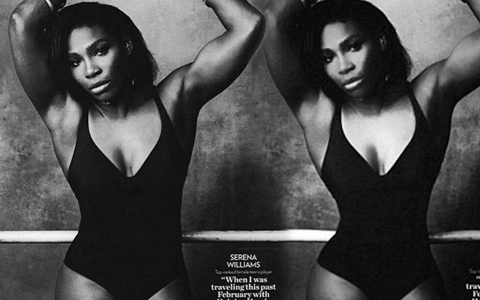 <p>Serena was named one of People magazine's most beautiful women of 2016, but fans noticed something amiss when this photo accompanied the magazine'sarticle. Serena promptly uploaded the real version to placate her angry fans. </p>
