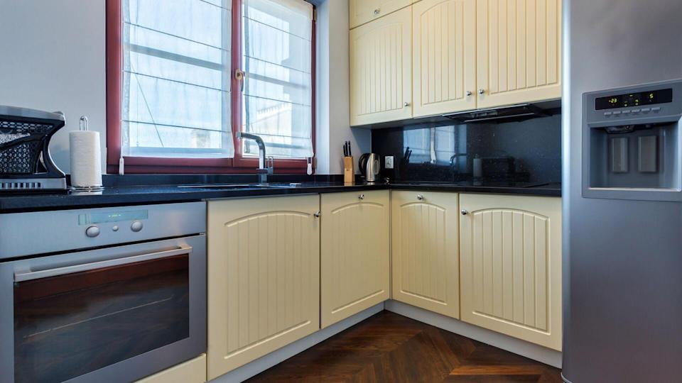 painted cabinets in kitchen