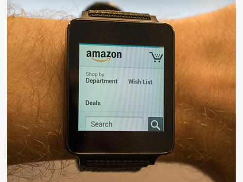 Amazon on an Android watch