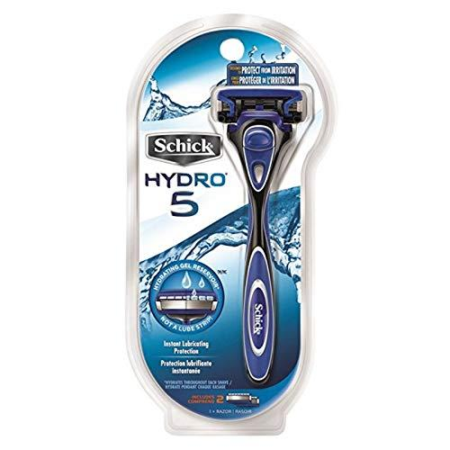 "<p><strong>Schick</strong></p><p>amazon.com</p><p><strong>$11.67</strong></p><p><a rel=""nofollow"" href=""http://www.amazon.com/dp/B003BVINQI/"">BUY IT HERE</a></p><p>While it's generally accepted that more blades means more irritation, the five blades in this cartridge razor are tempered by built-in gel pads. The lubricating gel contains aloe vera and Vitamin E to cool and soothe skin during the shave, not after the fact.</p>"