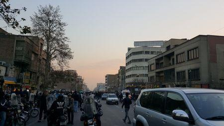 People protest in Tehran, Iran December 30, 2017 in in this picture obtained from social media. REUTERS