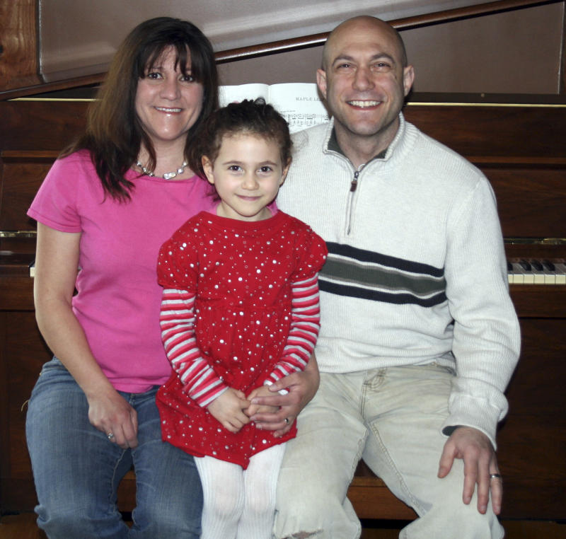 This undated photo provided by the Avielle Foundation shows Jeremy Richman, Jennifer Hensel and their daughter Avielle, 6, who was killed in the shooting massacre by Adam Lanza at Sandy Hook Elementary School in Newtown, Conn., on Dec. 14, 2012.  As scientists, the couple wanted answers about what could lead a person to commit such violence.  On Monday, April 15, 2013, they announced a scientific advisory board for the Avielle Foundation, which was established with the goal of reducing violence.  (AP Photo/The Avielle Foundation)