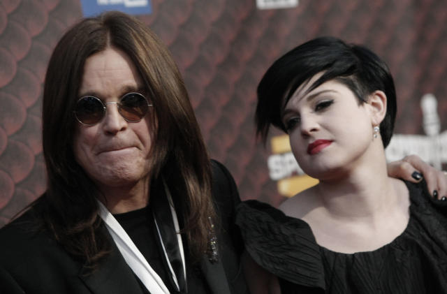 Ozzy Osbourne and daughter Kelly Osbourne at the Scream Awards in Los Angeles. (AP Photo/Dan Steinberg)