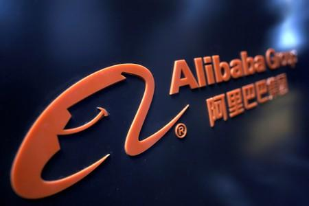 FILE PHOTO: FILE PHOTO: A logo of Alibaba Group is seen at an exhibition during the World Intelligence Congress in Tianjin
