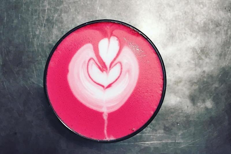 Pretty in pink: AIDA's rose latte