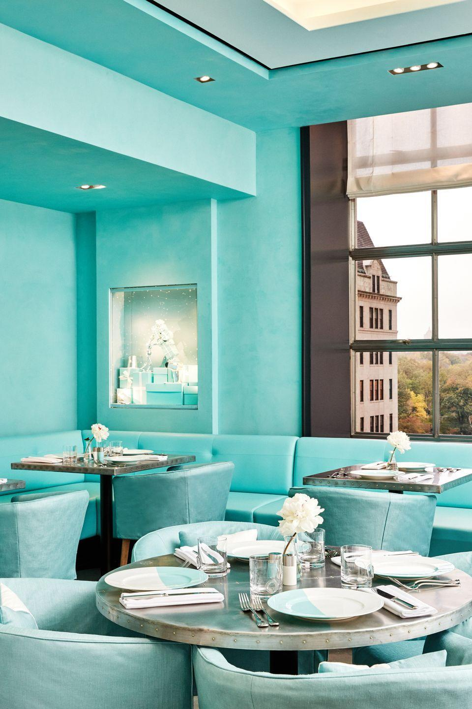 """<p>Tiffany & Co. has been a fixture on the corner of Fifth Avenue and 57th Street in Manhattan since it <a href=""""https://www.townandcountrymag.com/leisure/dining/a13452761/tiffany-and-co-new-york-blue-box-cafe/"""" rel=""""nofollow noopener"""" target=""""_blank"""" data-ylk=""""slk:opened its doors on October 21"""" class=""""link rapid-noclick-resp"""">opened its doors on October 21</a>, 1940, and the all-day <a href=""""https://www.tiffany.com/blue-box-cafe/"""" rel=""""nofollow noopener"""" target=""""_blank"""" data-ylk=""""slk:Tiffany Blue café"""" class=""""link rapid-noclick-resp"""">Tiffany Blue café</a> drew in crowds from around the country when it opened in 2018. Due to the ongoing pandemic, the cafe is temporarily closed but is scheduled to reopen in 2022 alongside the Tiffany New York flagship reopening. </p><p><strong>More</strong>: <a href=""""https://www.townandcountrymag.com/leisure/dining/a2570/best-places-for-tea-in-new-york-city/"""" rel=""""nofollow noopener"""" target=""""_blank"""" data-ylk=""""slk:The 7 Best Places for Afternoon Tea in New York City"""" class=""""link rapid-noclick-resp"""">The 7 Best Places for Afternoon Tea in New York City</a></p>"""