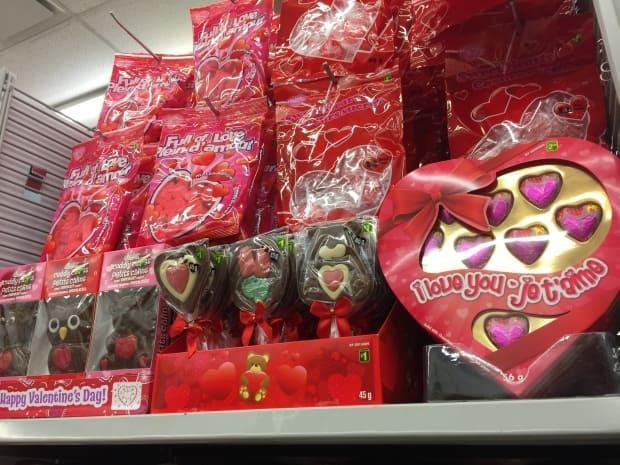 Valentine's Day-themed chocolate typically goes on sale on Feb. 15, which has been adopted as a day of bonding for the asexual and aromantic community.